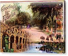 Greetings From Florida Acrylic Print by Deborah Hildinger