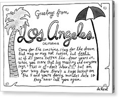 Greetings From Los Angeles Acrylic Print