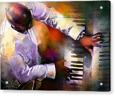 Greg Phillinganes From Toto Acrylic Print by Miki De Goodaboom