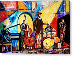 Gregory Porter And Band Acrylic Print
