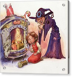Gretel And Witch Acrylic Print