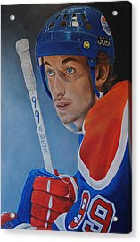 Acrylic Print featuring the painting 'gretzky' Wayne Gretzky by David Dunne