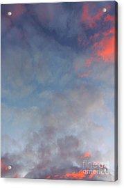 Pink Flecked Sky Acrylic Print by Linda Hollis