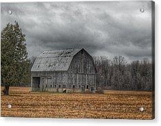 0024 - Grey Barn And Tree Acrylic Print