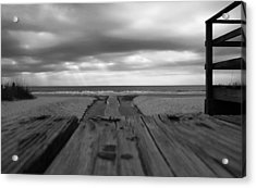 Grey Beach Acrylic Print