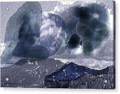 Grey Clouds Acrylic Print