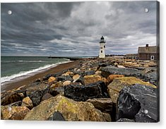 Grey Day At Scituate Lighthouse Acrylic Print