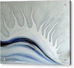 Grey January Acrylic Print by Eva-Maria Becker