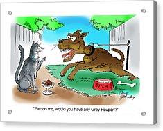 Grey Poupon Acrylic Print by David Lloyd Glover