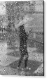 Grey Rain Acrylic Print
