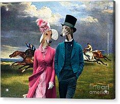 Greyhound Art Canvas Print - Derby In Epsom Acrylic Print