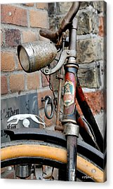 Greyhound Bicycle Acrylic Print by Robert Lacy