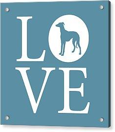Greyhound Love Acrylic Print