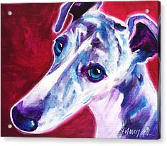 Greyhound - Myrtle Acrylic Print by Alicia VanNoy Call