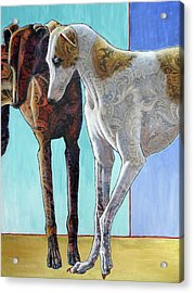 Paisley Paws De Deux Acrylic Print by Ande Hall
