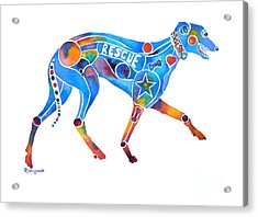 Greyhound Rescue Gffl Acrylic Print by Jo Lynch