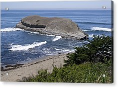 Greyhound Rock State Beach - Santa Cruz - California Acrylic Print by Brendan Reals