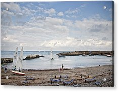 Greystones Harbour With Yachts Acrylic Print by Gary Rowe