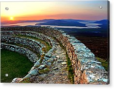 Grianan Fort Sunset Acrylic Print