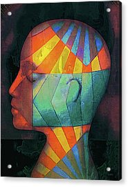 Acrylic Print featuring the photograph Grid Head 2 by Jeff Gettis