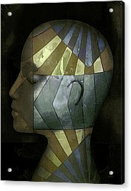 Acrylic Print featuring the photograph Grid Head by Jeff  Gettis