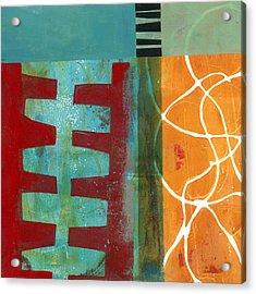 Grid Print 12 Acrylic Print by Jane Davies
