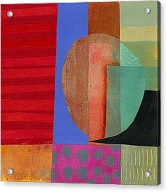 Grid Print 15 Acrylic Print by Jane Davies