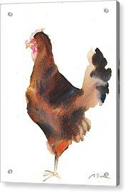 Grid Series No.12 Chicken No.6 Acrylic Print by Sumiyo Toribe