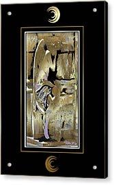 Grief Angel - Black Border Acrylic Print