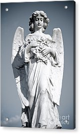 Acrylic Print featuring the sculpture Grieving Angel On The Old Graveyard by Yurix Sardinelly