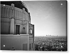 Griffith Observatory And Downtown Los Angeles Acrylic Print by Kirt Tisdale