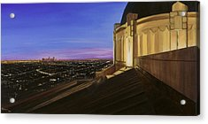 Griffith Park Observatory Acrylic Print by Christopher Oakley