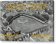 Griffith Stadium Acrylic Print by Jost Houk
