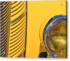 Grilled Chrome To Yellow Acrylic Print