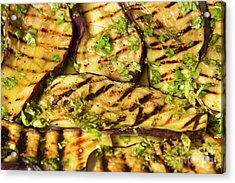 Grilled Eggplant With Dressing Acrylic Print by Patricia Hofmeester