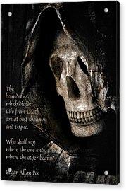 Grim Reaper And Edgar Allan Poe Acrylic Print