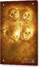 Grim Tales Of Burning Skulls Acrylic Print by Jorgo Photography - Wall Art Gallery