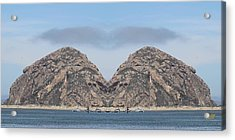 Grinch Of The Rock In Morro Rock Acrylic Print by Gary Canant