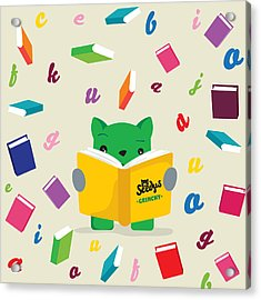 Grinchy And Books Acrylic Print by Seedys