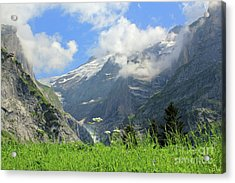 Grindelwald Glacier In Switzerland Acrylic Print by Pixelshoot Photography