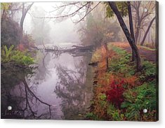 Grings Mill Fog 015 Acrylic Print by Scott McAllister