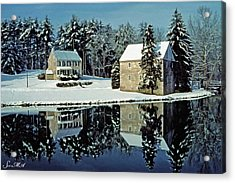 Grings Mill Snow 001 Acrylic Print