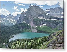 Grinnell Lake From Afar Acrylic Print