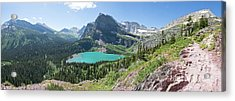 Grinnell Lake Panoramic - Glacier National Park Acrylic Print