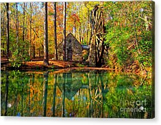 Grist Mill Acrylic Print by Geraldine DeBoer