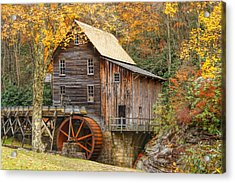 Grist Mill In Autumn Hues Acrylic Print