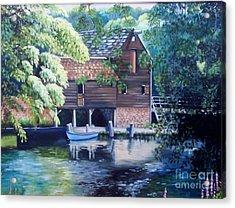 Grist Mill Philipsburg N Y Acrylic Print