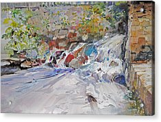 Grist Mill Spill Way Acrylic Print