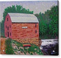 Grist Mill Acrylic Print by Stan Hamilton