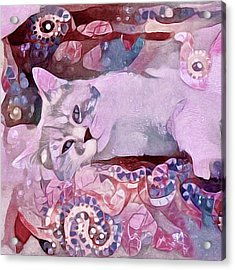 Acrylic Print featuring the mixed media Grizabella by Susan Maxwell Schmidt